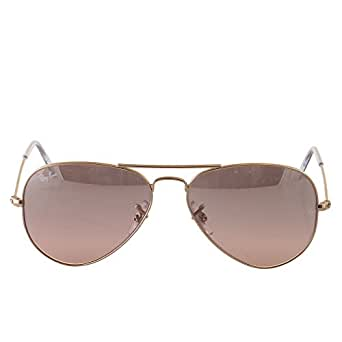 Ray-Ban AVIATOR LARGE METAL - GOLD Frame CRYS.BROWN-PINK SILVER MIRROR
