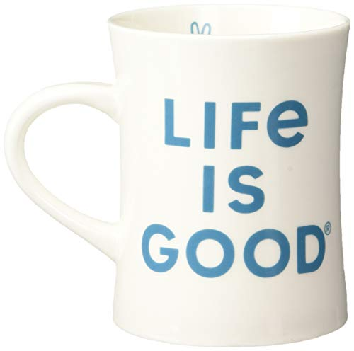Life is Good Diner Mug Life is Good Logo, Could White, One Size ()