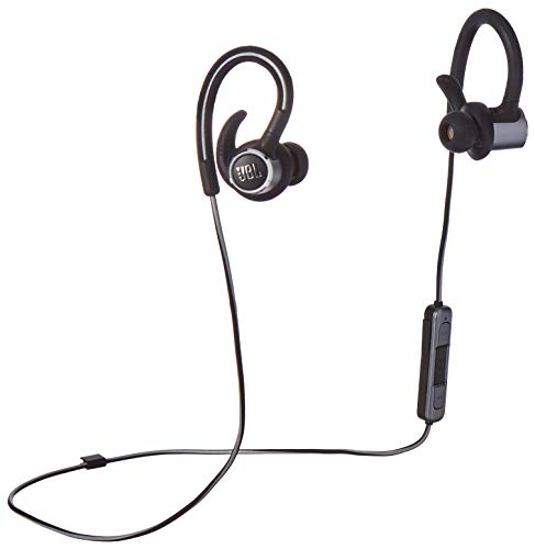 JBL Reflect Contour 2.0, Secure Fit, in-Ear Wireless Sport Headphone with 3-Button Mic/Remote - Black