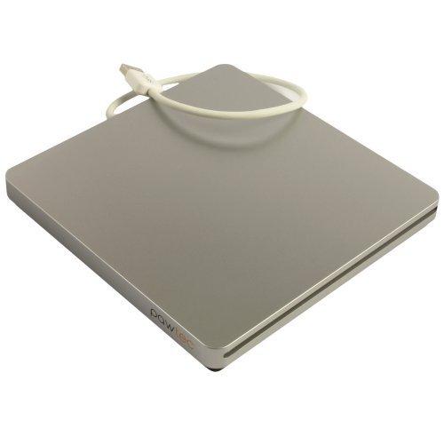 Pawtec UltraSlim External USB 3.0 Slot-Loading BDXL 3D Blu-Ray Writer / Burner For Apple Macbook iMac Mac Mini & PC - Silver