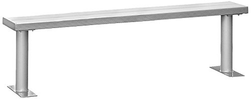 Room Locker Aluminum Benches - Salsbury Industries 77775, Aluminum