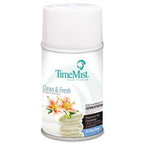 TimeMist® Metered Fragrance Dispenser Refills, Clean N Fresh, 6.6 oz, 12 Cans per Carton