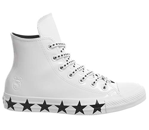 Converse x Miley Cyrus Womens CTAS High Top Sneakers (8 M US, White/Black/White)