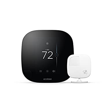 ecobee3 Smarter Wi-Fi Thermostat with Remote Sensor, 2nd Generation, Works with Alexa