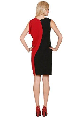 rot Colorblocking Schwarz Kleid schwarz rot Fashion APART Farbe A6wXUCq