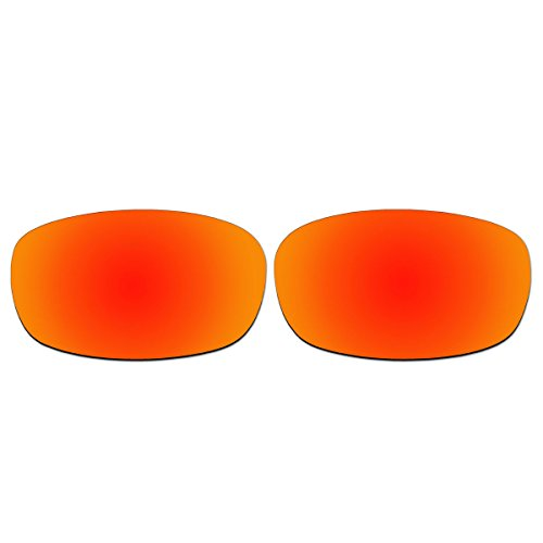 Replacement Fire Red Polarized Lenses for Oakley Square Wire 2.0 - 670 Sunglasses 1
