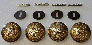 4 California State Seal Gold Uniform Buttons Large Pins/Washers CA Police/fire by HighQ Store