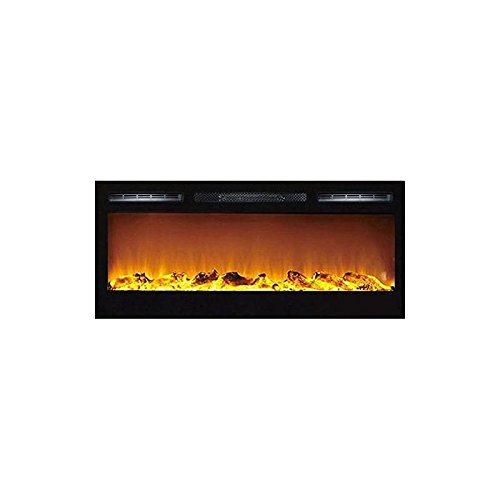 Traditional Gel Fuel Fireplace - Madison 36 Inch Logs Recessed Wall Mounted Electric Fireplace