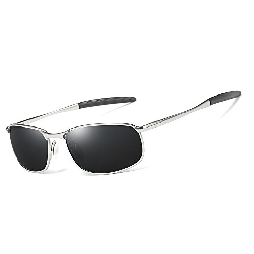 Style Silver Men'S Sunglasses Polarised Grey Sports Glasses Pilot Riding Driver BB8q5xw