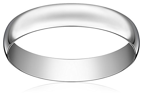 Light Comfort-Fit Platinum Band, 4mm, Size 9.5 by Amazon Collection