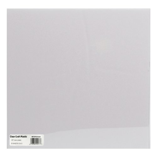 - Grafix Craft Plastic Sheets 12inX12in 25/PkgClear .007