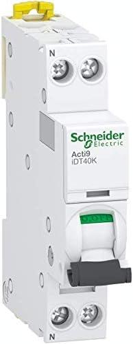disjoncteur modulaire Acti9 iDT40K courbe C 4500A//4,5kA 16A 1P+N