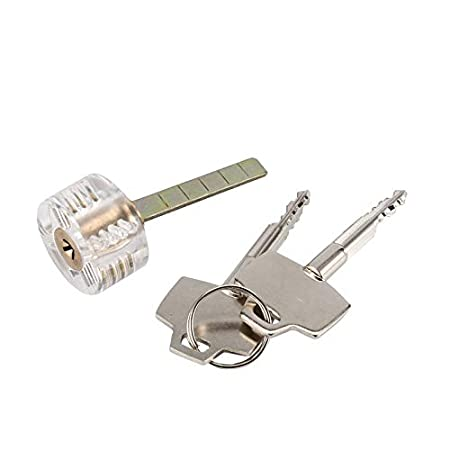 BianchiPatricia Transparent Cutaway Practice Lock Cross Key Locks ...