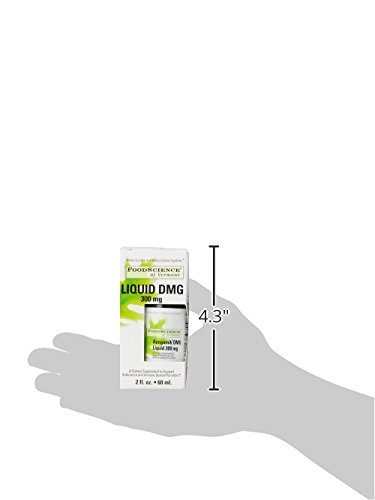 FoodScience of Vermont Liquid DMG, Daily Dietary Supplement to Support  Endurance and Immune System Function, 300 mg Aangamik DMG, 2 Fl  Ounces