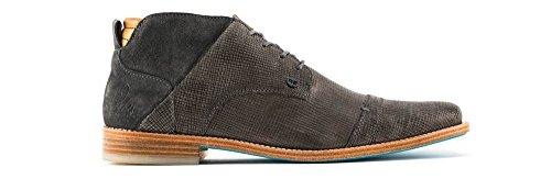 Rehab - Zapatos de cordones de Piel para hombre gris gris oscuro