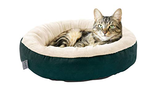 (Love's cabin Round Donut Cat and Dog Cushion Bed, 20in Pet Bed for Cats or Small Dogs, Anti-Slip & Water-Resistant Bottom, Super Soft Durable Fabric Pet beds, Washable Luxury Cat)