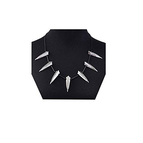 MINGKUO Black Panther Pendant Necklace For Men-Wakanda King T'Challa Pendant ()