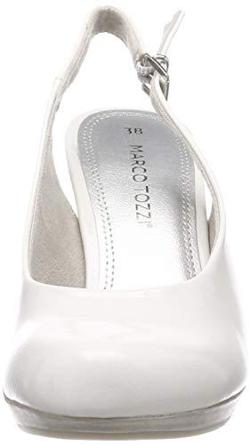 Donna 123 Caviglia 29601 Con 22 Patent Alla Bianco Cinturino Tozzi Marco 2 Scarpe 2 white qxYvwnz6