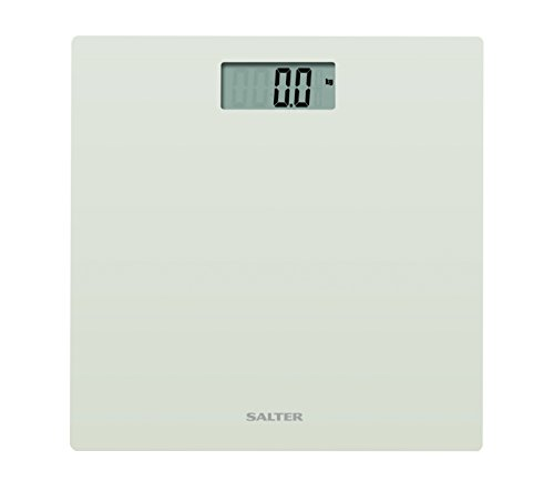 Salter Ultra Slim Glass Electronic Digital Bathroom Scale - White