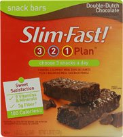 Slim-Fast 3-2-1 plan snack-bars de