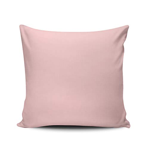 WEINIYA Bedroom Custom Decor Blush Peachy Light Pink Solid Color Pillow Cover Case Elegant Design Double Sides Printed Patterning European 26x26 Inches