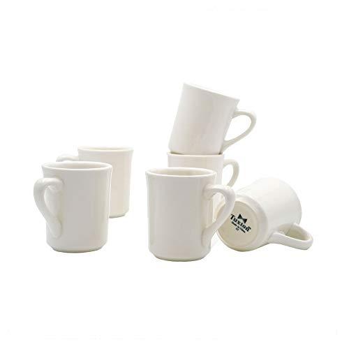 - Tuxton Home THTRE017-6B Nevada Ceramic Coffee Mug, 8-Ounce, Eggshell White