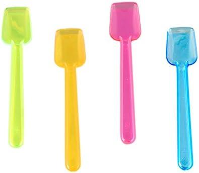 Cuchara de plástico para helados Neon Edition (9,3cm/colores surtidos–100unidades)