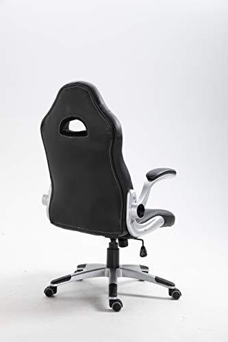 La Chaise Spaniola Sepulveda kontorsstol, konstläder, svart, 50 x 50 x 120 cm