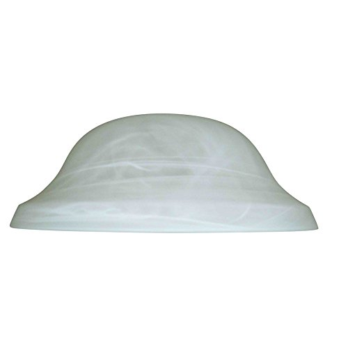 Alabaster Bowl Light - Litex 4-in H 11.13-in W Alabaster Glass Globe Ceiling Fan Light Shade