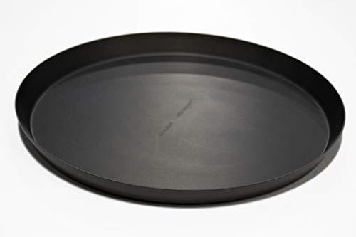 Aluminum Anodized Aluminum Pizza Pan - LloydPans 10x.75 inch Pizza Cutter Pan, Pre-Seasoned PSTK, Anodized Aluminum