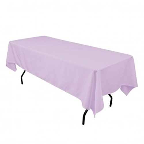 Tablecloth Lavender - Gee Di Moda Rectangle Tablecloth - 60 x 102 Inch - Lavender Rectangular Table Cloth for 6 Foot Table in Washable Polyester - Great for Buffet Table, Parties, Holiday Dinner, Wedding & More