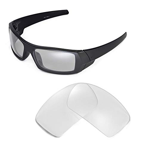 Walleva Replacement Lenses for Oakley Gascan Sunglasses - Multiple Options Available (Clear)