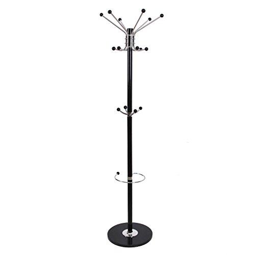 Songmics marmor Garderobenständer Kleiderständer metall Hutständer mit Schirmständer schwarz RCR21B