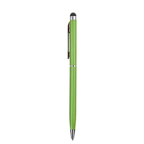 MChoice 2 in 1 Touchscreen Pen + Ballpoint Pen For iPad iPhone For Tablet Smartphone (Green)