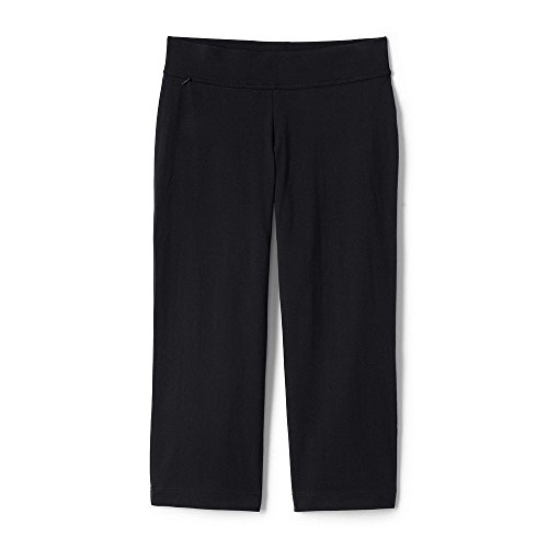 Lands' End Women's Plus Size Petite Starfish Crop Pants, 3X, Black (Cotton Pants Knit Cropped)