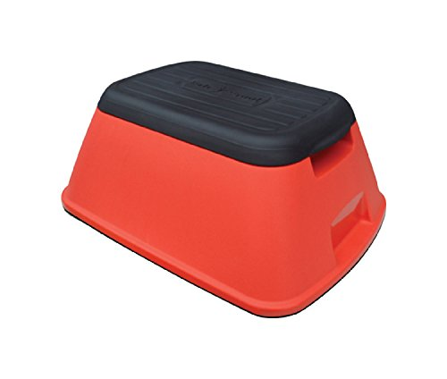 Anti-Tip Safe-T-Stool and Carry Basket Color: Red by Ennovea Life