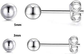 AMBESTEE Women 925 Pure Sterling Sliver Crown Design Square Cut Crystal Cubic Inlay Zirconia Rhinestones Studs Earrings Set