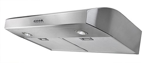 AKDY 30-Inch 3-Speed Stainless Steel Under Cabinet Range Hood AZ-W0175SS (Silver)