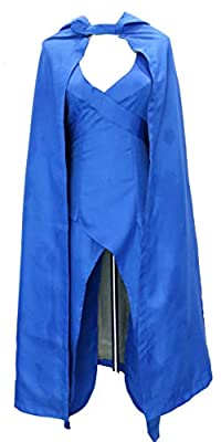 Women Game of Thrones Daenerys Targaryen Style Costume Top Design Cloak Khaleesi Dress