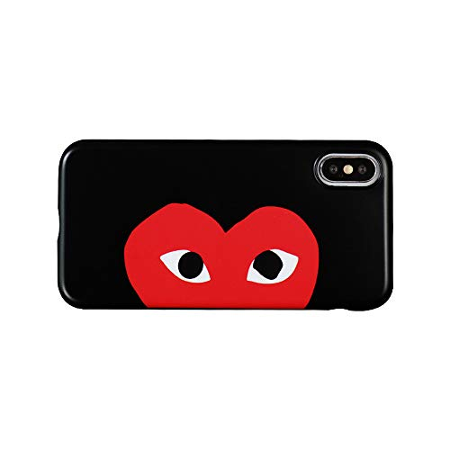 Comme des Garcons Play Heart Logo CDG iPhone XR Black Color Mobile Phone Case
