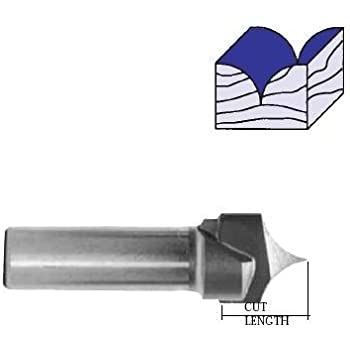 Whiteside Router Bits 1570 Point Cutting Round Over Bit with 3/16-Inch Radius 3/8-Inch Cutting Diameter and 3/8-Inch Cutting Length