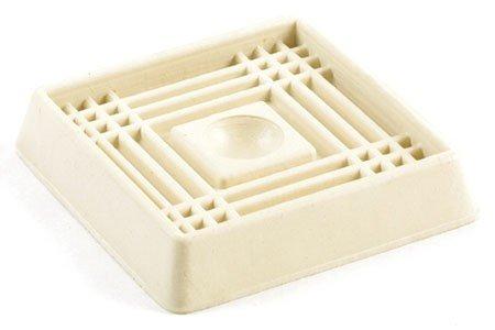 Shepherd Hardware 9166 2-Inch Square Rubber Furniture Cups, 4-Pack (2k Slip Champion)