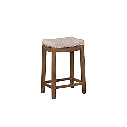 Wondrous Amazon Com Linon Bridgeport Rustic Backless Counter Stool Ocoug Best Dining Table And Chair Ideas Images Ocougorg