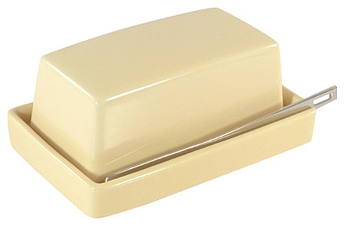 Bee House Butter Dish with Stainless Steel Butter Knife (Banana)