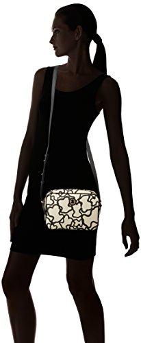 Tous Pequeña Kaos, Bolso Bandolera para Mujer, Varios Colores (Arena/ Negro), 7x18x22 cm (W x H x L)