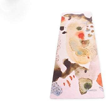 Yoga mat 折りたたみアンチ涙耐摩耗インフレータブル白太い細いゴムのヨガマット workout