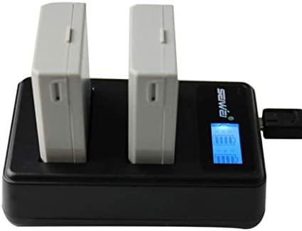Cargador Doble Kit de 2 x LP-E5 de la batería 1080mAh USB ...