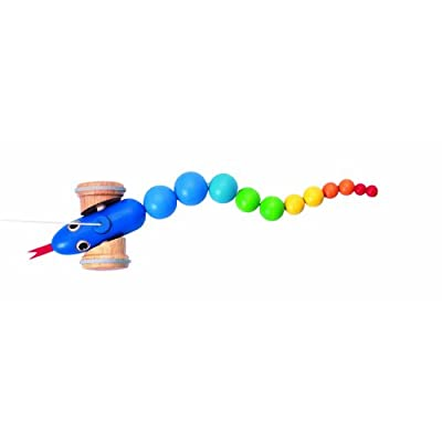PLAN Toy Pull Along Snake: Toys & Games