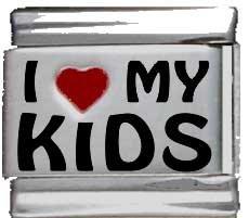 Kids Red Italian Charm (I Heart My Kids Red Heart Laser Italian)