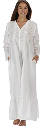 The 1 for U 100% Cotton Ladies Victorian Style Nightgown 7 Sizes - Kate (Embroidered Sleepshirt)